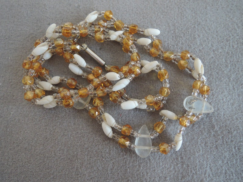 Shell and Glass Bead Necklace c1980s