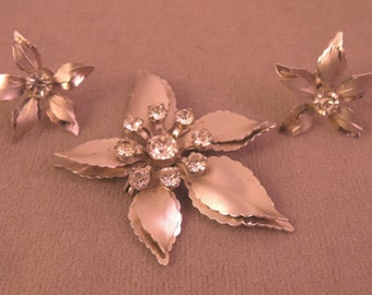 Bugbee and Niles Pin/Pendant and Earrings Set 1940s