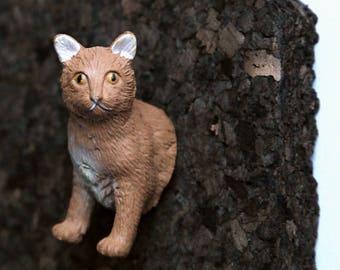 """Pushpin """"Abyssinian cat"""""""