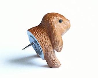 "Pushpin ""Brown bunny"""
