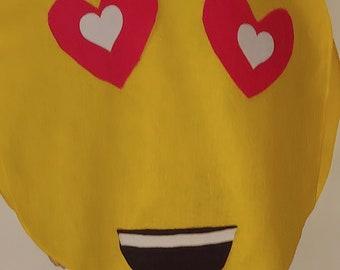 6263bb951e3 mens womens adult one size yellow felt comic-con love heart happy emoji  costume costumes 27