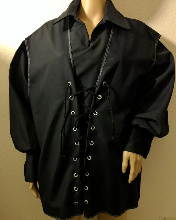 New adult mens large brown SCA renaissance pirate vest costume costumes 44