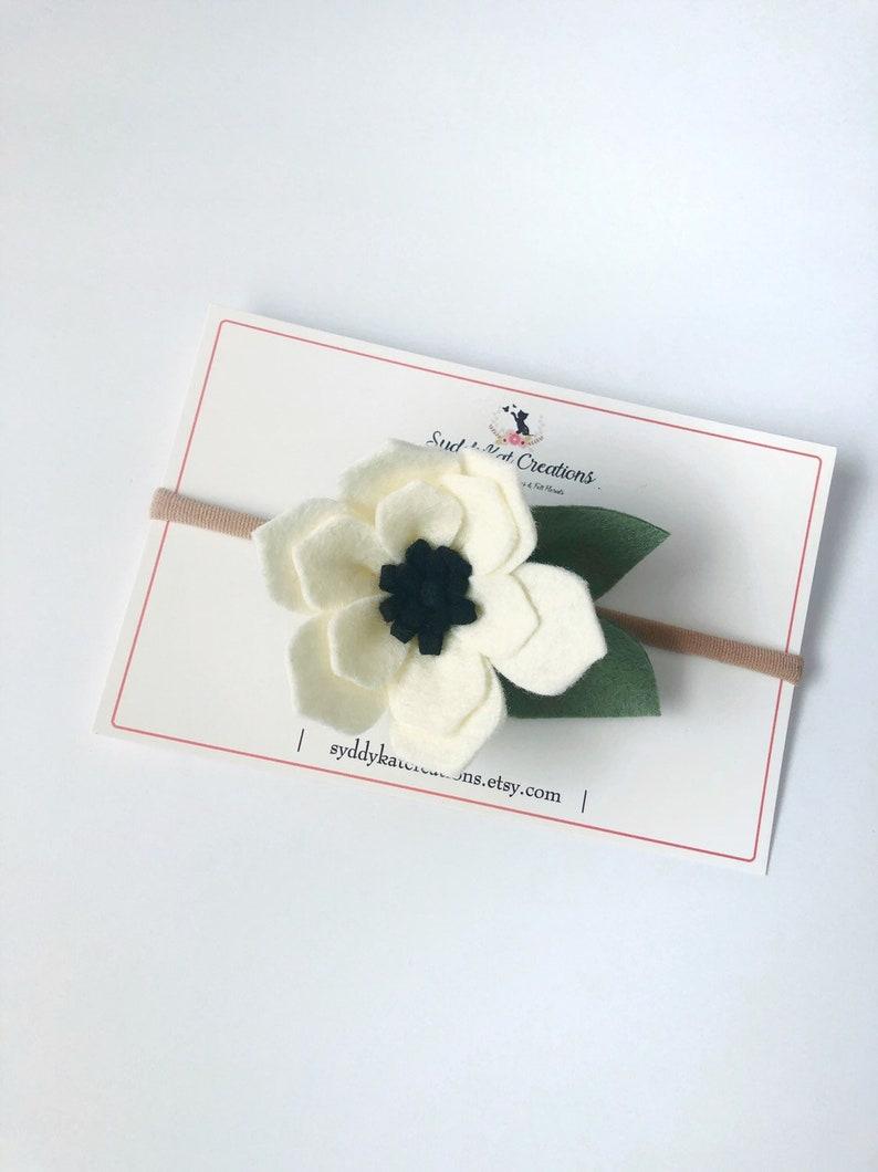 Felt Flower Crown Cream Magnolia Felt Flower Headband