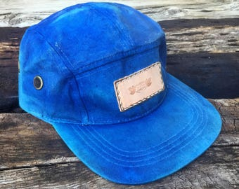 5 Panel waxed duck canvas hat 90a4a5230975