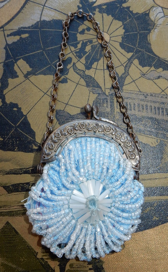 Vintage Beaded mini purse  1920's  Antique