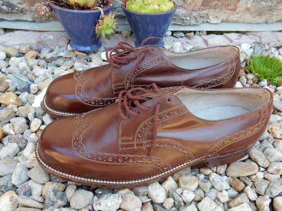 Vintage shoes men  handmade 1930s leather BAT'A