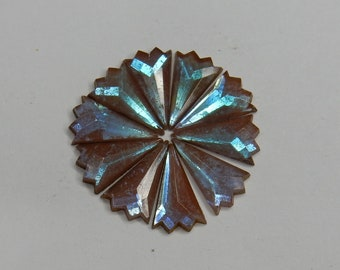 Saphiret glass cabochon star flower rare antique Victorian サフィレット