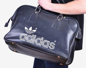 Details about Vintage 1970s Adidas Bag Peter Black