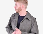 Vintage 1972 Swedish M58 Grey Wool Military Jacket S