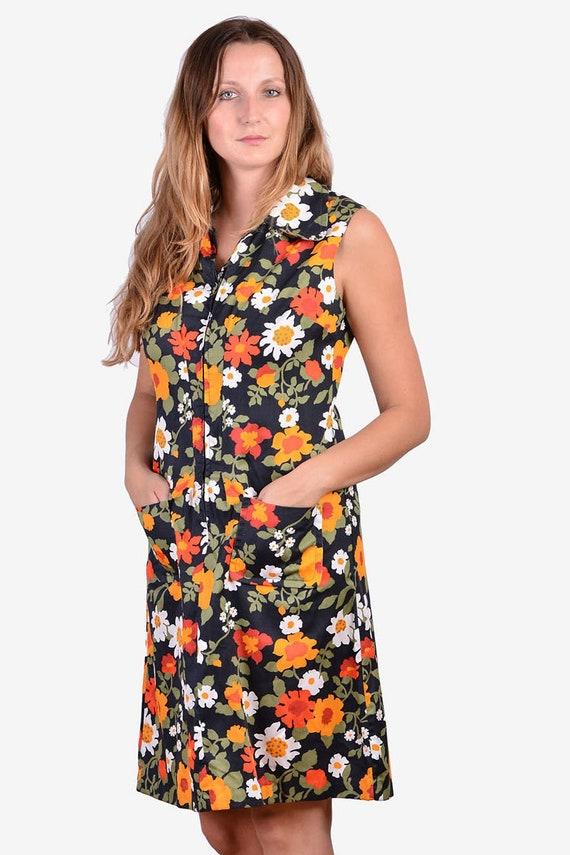 Vintage 1970's St Michael Floral Shift Dress | Siz