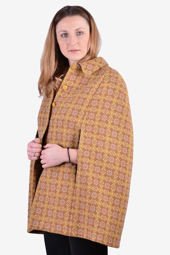 Vintage 1960's VRJ Welsh Woollens Tapestry Cape -