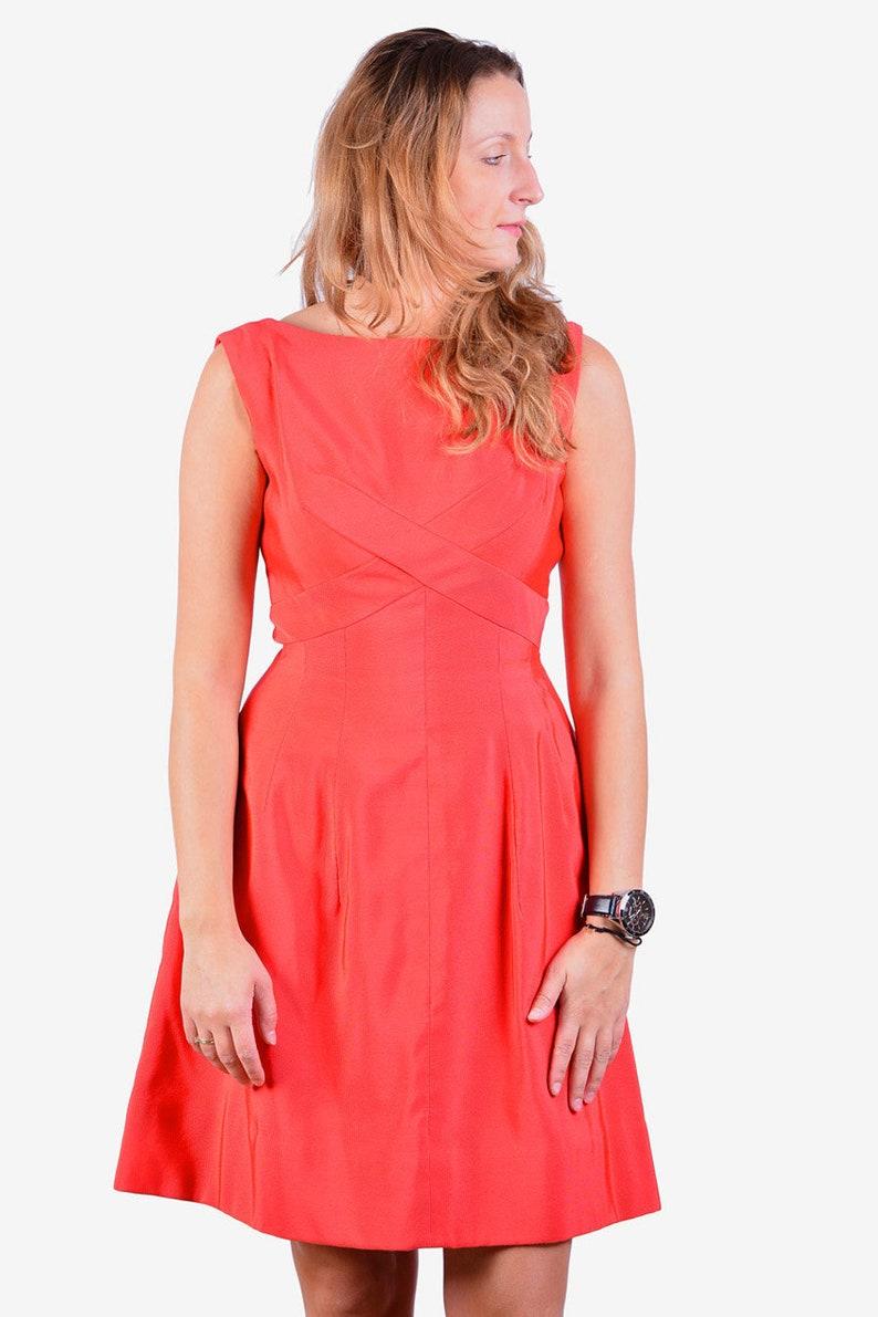 www.brickvintage.com Vintage 1950/'s Handmade Red Day Dress 8