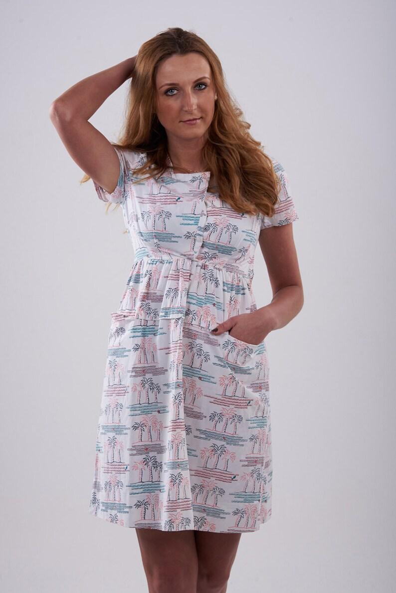 www.brickvintage.com Vintage 1950/'s Palm Tree Dress 8