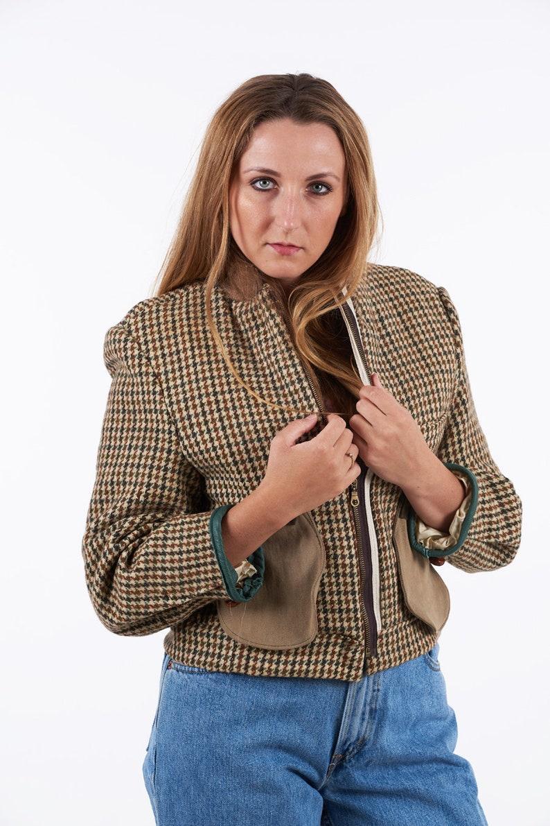 73e3c8536 Reworked Harris Tweed Dogtooth Jacket 12 - www.brickvintage.com