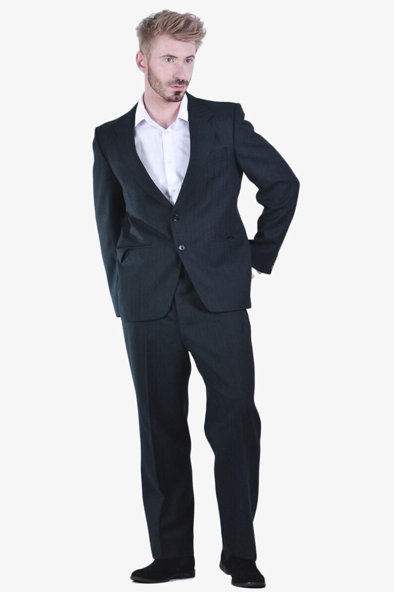 Vintage 1960/'s Stewart Of Princegate Pinstripe Suit 40 M www.brickvintage.com