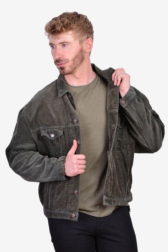 Vintage 1970's Levi's Green Corduroy Jacket | Size