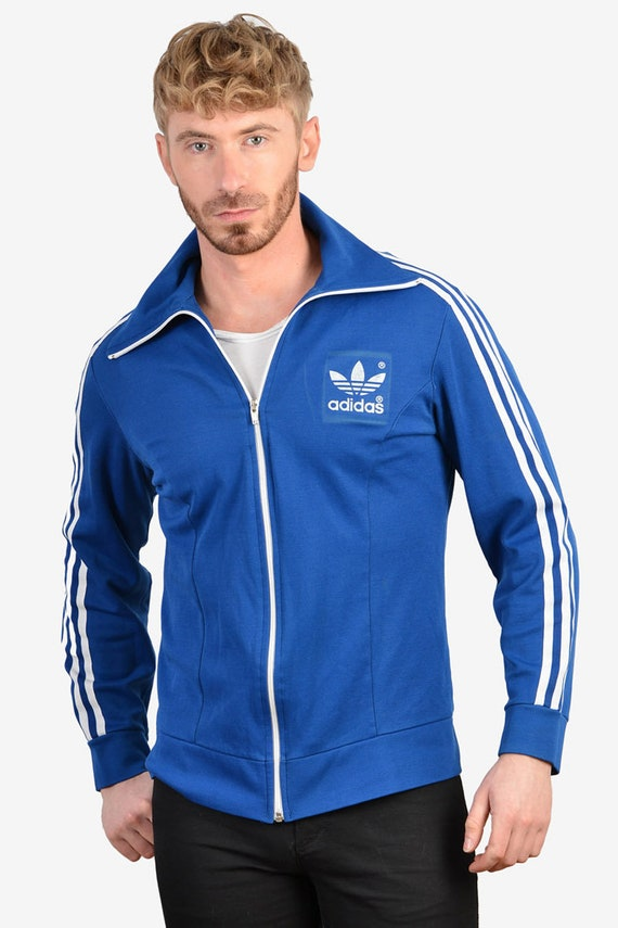 Vintage 1970's Adidas Europa Tracksuit Top | Size