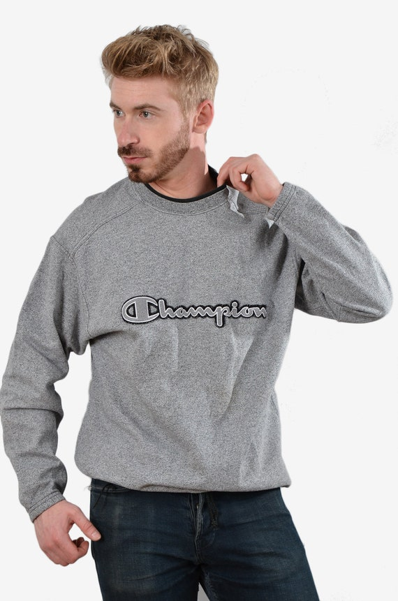 Vintage Champion Grey Sweatshirt L - www.brickvint