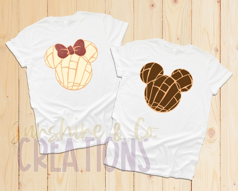 Mickey and Minnie Couples Shirt Disney Concha Concha bread Pan Dulce Disney Couples Shirt Mickey and Minnie Concha Matching shirts
