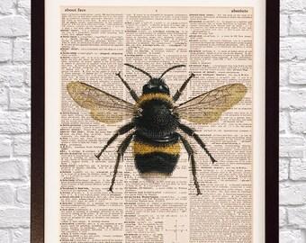 Bumble bee print etsy vintage bumble bee malvernweather Images