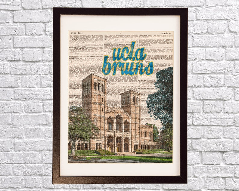 UCLA Campus Dictionary Art Print - Royce Hall Art - University of  California Print - Print on Vintage Dictionary Paper - Los Angeles Bruins