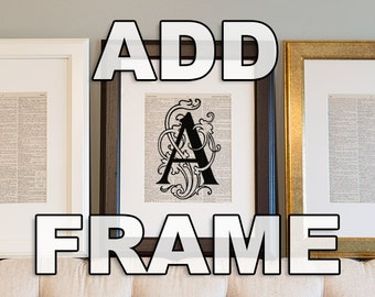 Standard Framing - Matted to 8x10 - Framed Vintage Dictionary Art Print - Gift for Him, Gift for Her