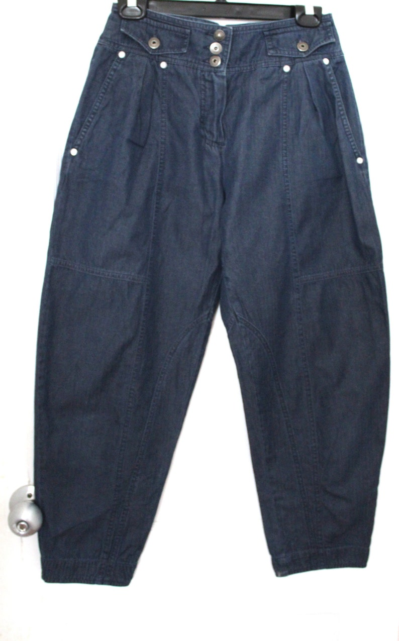 Vintage Kenzo Navy Blue High Waisted Cute Tapered Jeans
