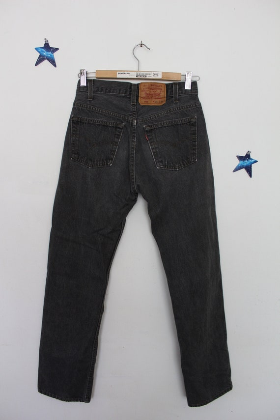 1980s Levi's 501 jeans grey black high rise made i