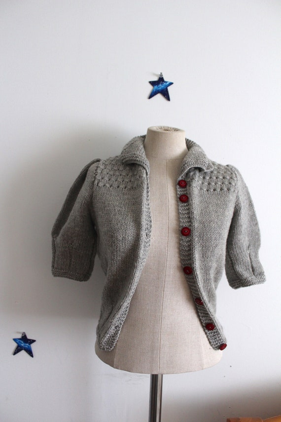 1940s replica sweater hand knitted wool