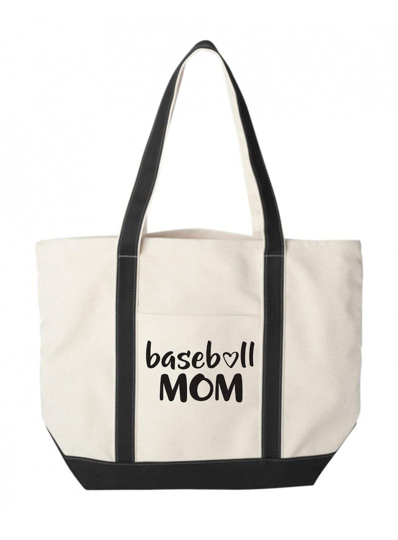 Boat Tote Sports Bag Great Gift Idea Sports Mom Canvas Tote Bag Baseball Mom Tote Bag