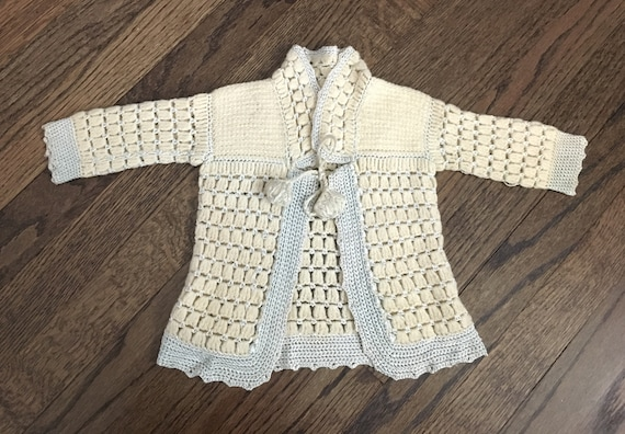 Vintage Knitting pattern how to make a sweet 1940s lily of the valley jumper