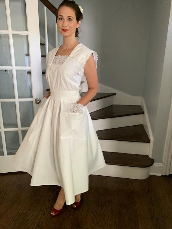 Vintage Gunne Sax 100% Cotton and Lace Dress, Wedd