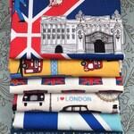 London / England Themed Fabric Remnant Bundle - 1 lb 6 oz