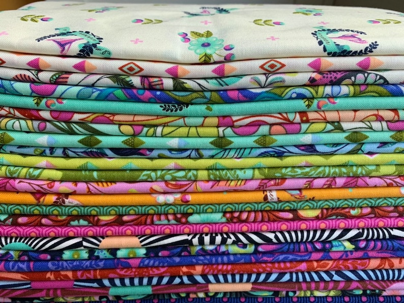 Slow and Steady by Tula Pink  COMPLETE Half Yard Bundle image 0