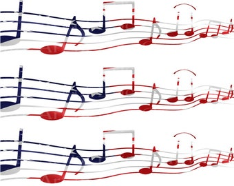 Musical Notes Band Happy Birthday ~ Frosting Cake Topper ~ Edible ~ D22861