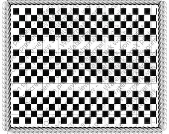 Checkerboard strip Germany