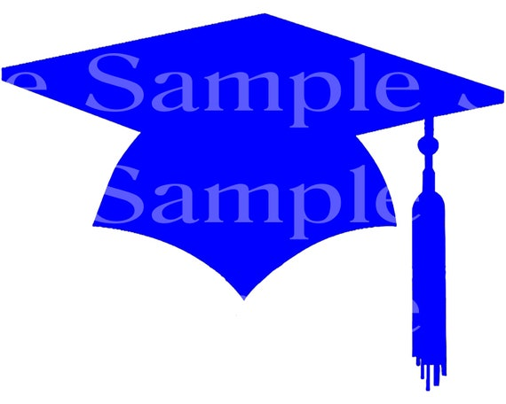 Blue Graduation Cap Party ~ Edible 2D Fondant Birthday Cake/Cupcake Topper ~ D24583