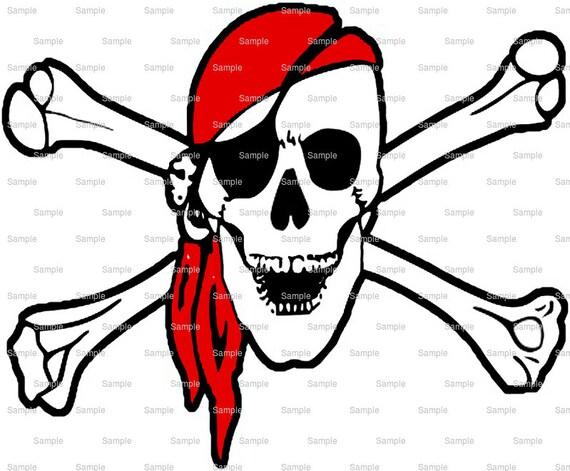 Pirate Skull and Crossbones Birthday ~ Edible 2D Fondant Birthday Cake/Cupcake Topper ~ D7928