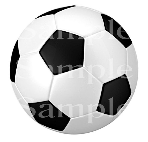 Soccer Ball Birthday ~ Edible 2D Fondant Birthday Cake/Cupcake Topper ~ D24498