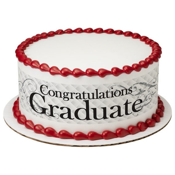 Congratulations Graduate - Edible Cake Side Toppers- Decorate The Sides of Your Cake! - D24099
