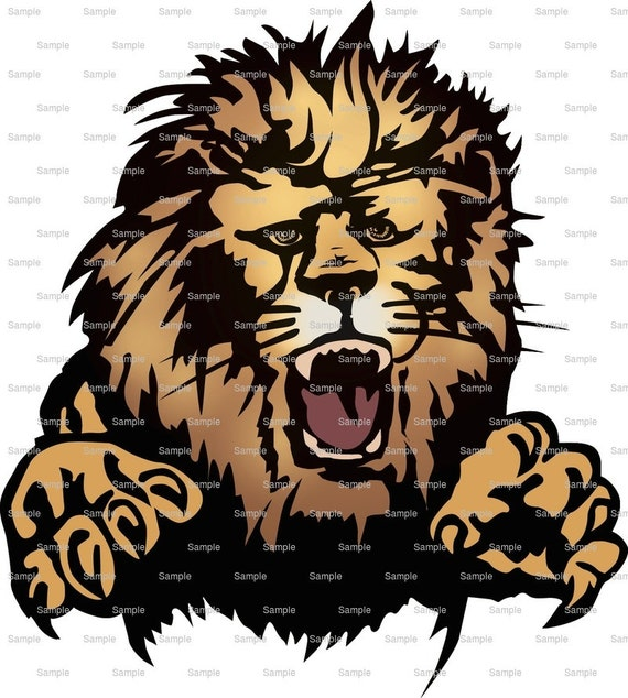 Lions Mascot Birthday - Edible Cake and Cupcake Topper For Birthday's and Parties! - D939