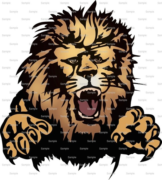 Lions Mascot Birthday ~ Edible 2D Fondant Birthday Cake/Cupcake Topper ~ D939