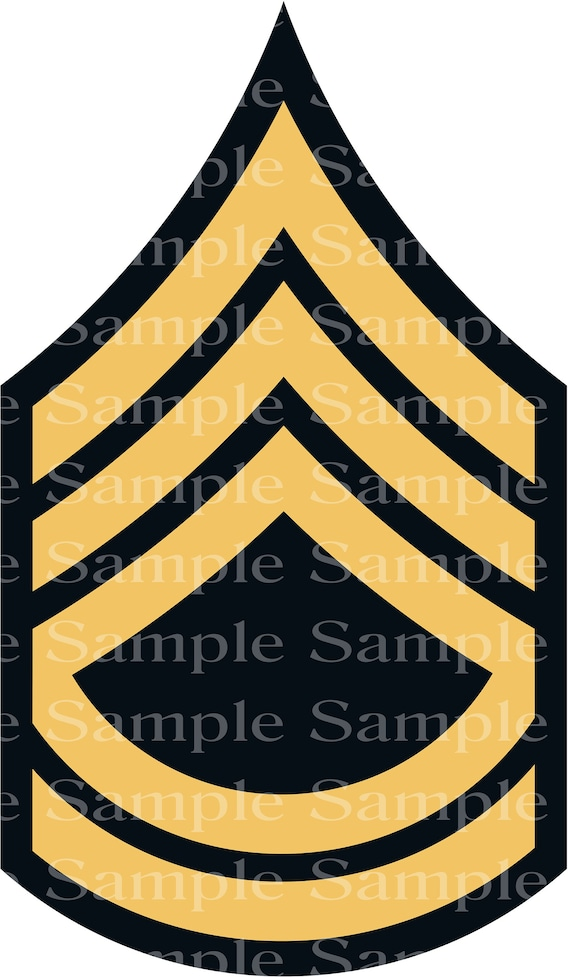 Army Sergeant First Class Military Birthday ~ Edible 2D Fondant Birthday Cake/Cupcake Topper ~ D24210
