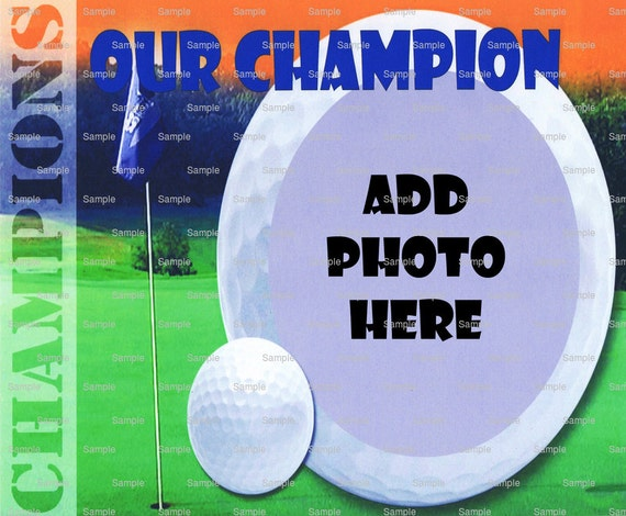 Golf Birthday ~ Edible 2D Fondant Birthday Photo Frame Cake/Cupcake Topper ~ D4446