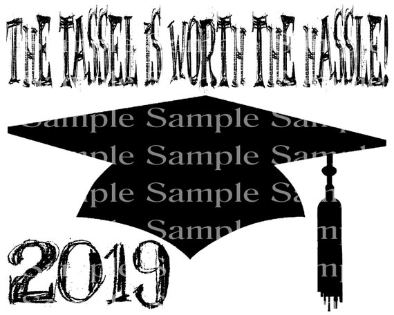 2019 Graduation Cap - 2D Fondant Edible Cake & Cupcake Topper For Birthdays and Parties! - D24296