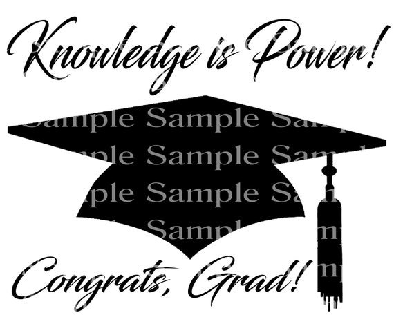 Knowledge is Power 2019 Graduation Cap - 2D Fondant Edible Cake & Cupcake Topper For Birthdays and Parties! - D24297