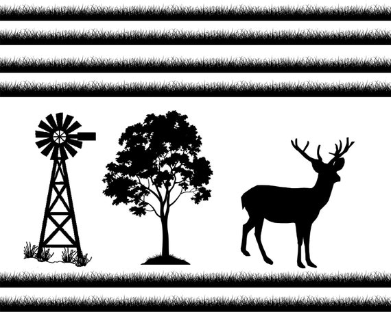 Deer Hunting Farm Birthday ~ Edible 2D Fondant Birthday Cake/Cupcake Topper ~ D24685