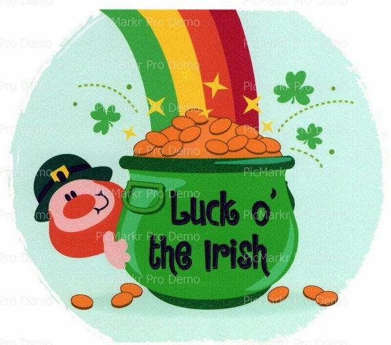 St. Patrick's Day Leprechaun and Pot of Gold ~ Edible 2D Fondant Birthday Cake/Cupcake Topper ~ D2257