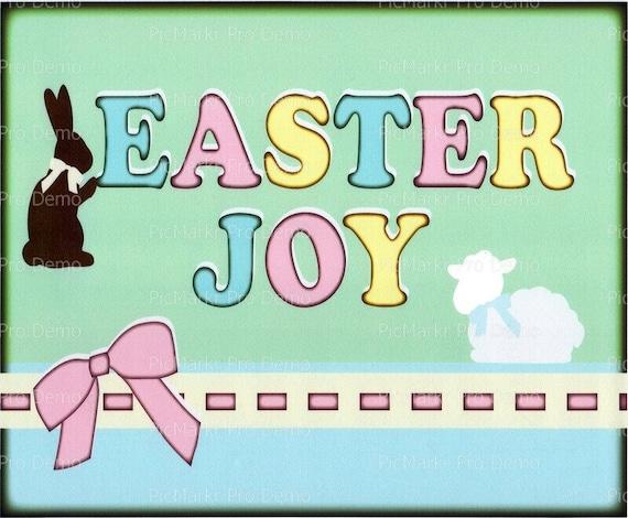 Easter Joy ~ Edible 2D Fondant Birthday Cake/Cupcake Topper ~ D2918