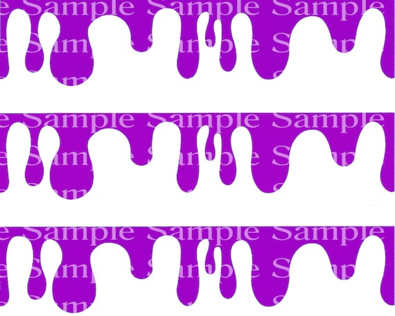 Gross Purple Slime Birthday - Edible Cake Side Toppers- Decorate The Sides of Your Cake! - D24301